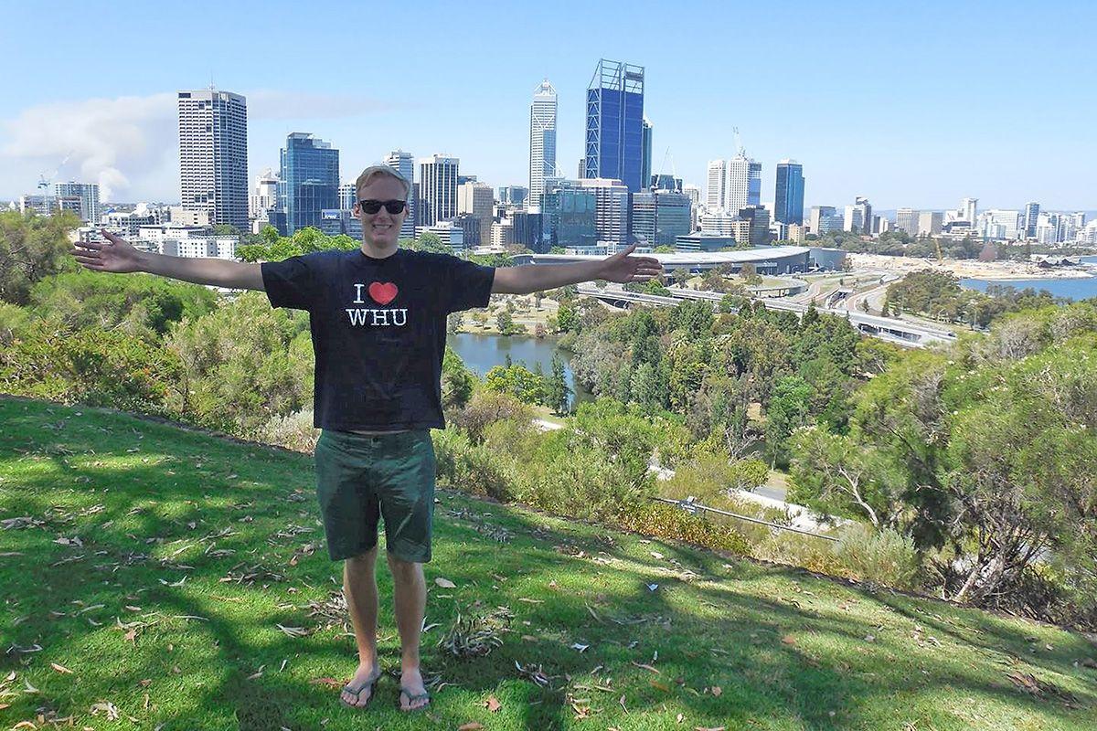 WHU Master of Science alumnus Max Jensen double degree in Perth, Australia